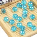 Beads, Selenial Crystal, Crystal, Blue AB, Faceted Discs, 8mm x 8mm x 6mm, 10 Beads, [ZZC098]